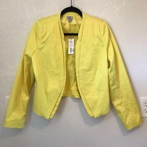 🔥NWT Electric Yellow Worthington Blazer